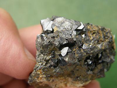 "Minerales "" Fantasticos Cristales Octaedricos De Magnetita De Marruecos-5C14 "" 2"