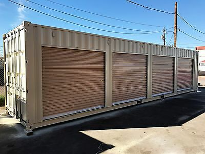 Shipping Container Portable Storage building with four roll up doors 7