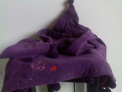 CAPE Enfant polaire violet prune douce fille 8 ans T 126  mixte NEUF 4