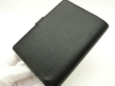 Louis Vuitton Authentic Epi Leather Black Agenda fonctionnel PM Diary cover Auth 6