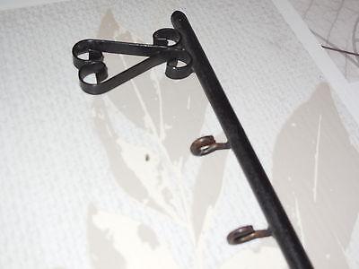 Antique French wrought iron key holder  (4 hooks) 4