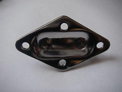 Pontet inox Sur Platine Losange 36x59mm ( Lot de 5 ) inox A2