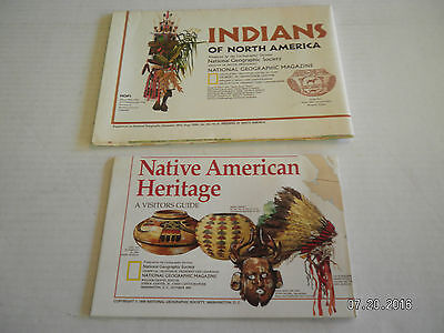 """6  Maps From  National Geographic Society.""""People Of The America"""" 4"""