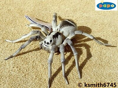 NEW * Papo TARANTULA solid plastic toy wild animal insect bug SPIDER