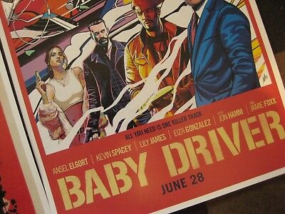 """Baby Driver  (11"""" x 17"""") Movie Collector's Poster Prints (Set of 3) 7"""