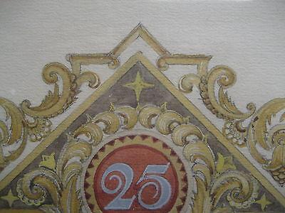 Handgemalte Ehrenurkunde der Maler Zwangs Innung Düsseldorf von 1924 Dahlhaus 3