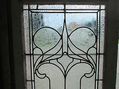 ~ ANTIQUE AMERICAN STAINED GLASS WINDOW ~ 22.75 x 43 ~ ARCHITECTURAL SALVAGE ~ 2