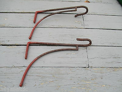 Antique 1800's  Equestrian Hand Forged Iron Tack Saddle Rack Horse 3