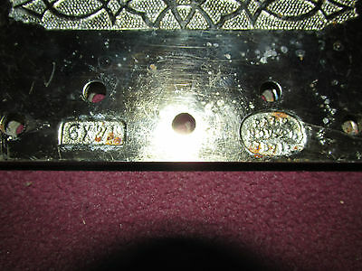 Pair Antique Victorian Large Fancy Hardware Hinges Dated 1871