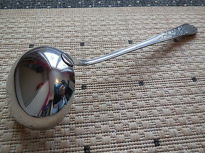 Vintage early 1980 LADLE -  SMS 8/10 INOX antique patina silvered finishing 2
