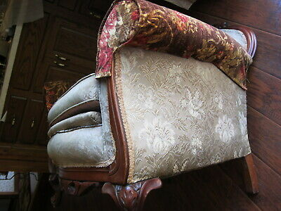Vintage Carved Mahogany Armchair.(Sort Back) 7