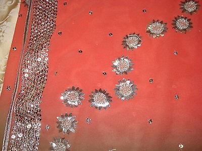 Ladies / Girls Wash & Wear Saree With Gota Patti Silver Work Throughout 4
