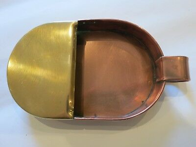 Arts and crafts copper and brass tray 2