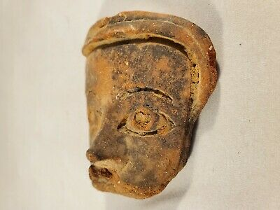 Beautiful Antique Small Pre-Colombian Face Motif 3
