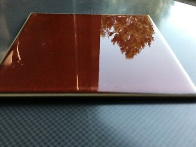 Vintage Beautiful Made In Germany 🇩🇪 Ceramic Tile Color Is Red Orange 3