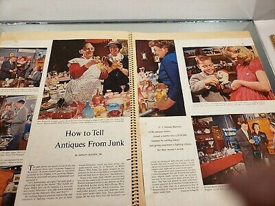 VINTAGE SCRAP BOOK Know Your Antiques/Refinishing /Collections/Newspaper clips 4 7