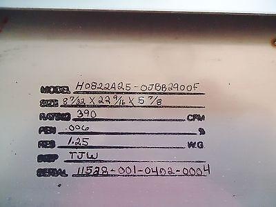 New Airguard Ulpa Filter H0822A25-0Jbb2900F, 8 1/4 X 22 5/8 X 5 7/8 Or 8 7/32 X 3
