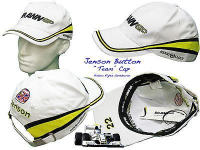 2x Henri Lloyd Brawn F1 Team Baseballkappen Jenson Button & Rubens