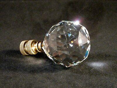 LAMP FINIAL-STUNNING 24/% LEAD CRYSTAL LAMP FINIAL**SATIN NICKEL BASE** SMALL