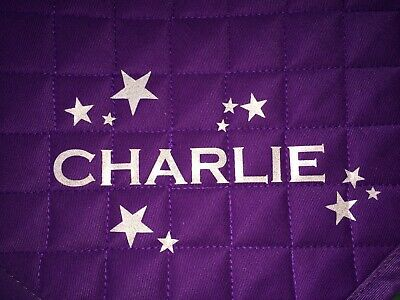 Pony Horse Rider Details about  /PERSONALISED High Wither Saddlecloth Saddle Cloth STARS NAMES