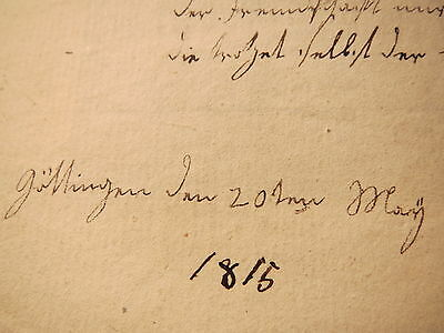 Dresden - Stammbuchblatt koloriert / Göttingen 1815 von Helena Lilacius ?
