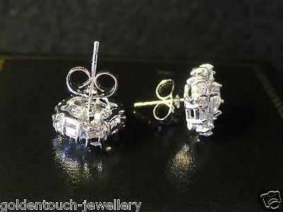 08ca320e2 ... Men's square 10mm simulated diamond 18k white gold filled stud earrings  /UK 4