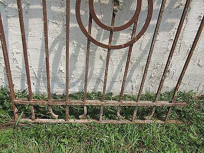 Antique Victorian Iron Gate Window Garden Fence Architectural Salvage Door #47 3