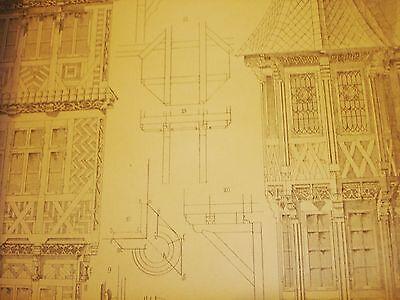 Gothische Holz-Architektur 1870 German Gothic Architecture Folio Huge 48 Plates 9