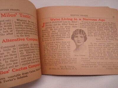 1920'S Dr Miles Written Proofs Quack Medicine Tract Booklet 6