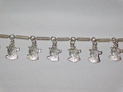 Egyptian 925 solid Stamped silver Revival Pharaoh Head Link Bracelet 20.77 grams 8