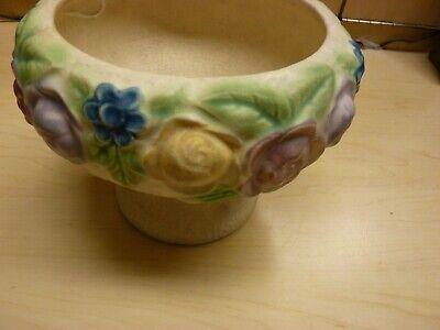 Roseville Pottery Rozane 1917 Floral Compote / Vase / Urn / Planter 2