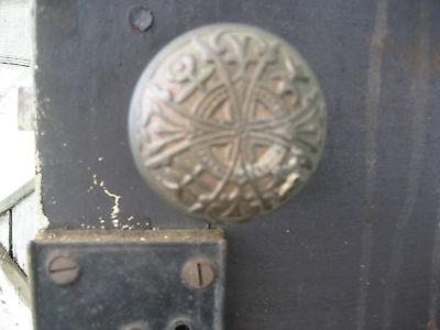 "SOLID - circa 1890 VICTORIAN shutter screen door w louvers 77.5"" x 30"" x 1.25"" 10"