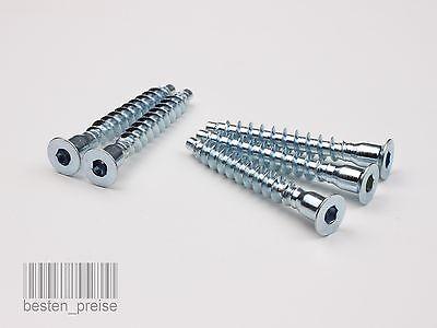 O5mm O6 4mm O7mm Mobelschrauben Eckverbindungsschrauben Verzinkt