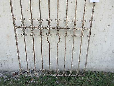 Antique Victorian Iron Gate Window Garden Fence Architectural Salvage #850 4