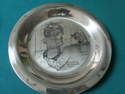 """Sterling 925 PLATES NORMAN ROCKWELL CHRISTMAS FRANKLIN MINT 8"""" -1971/75 - PICK 1 3"""
