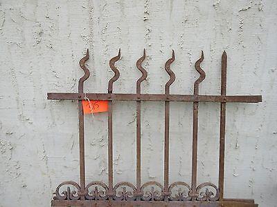 Antique Victorian Iron Gate Window Garden Fence Architectural Salvage Door #315 2