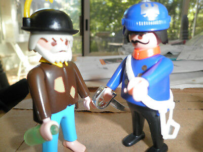 PLAYMOBIL 5504 Hobo /& Police man victorian house mansion 5300
