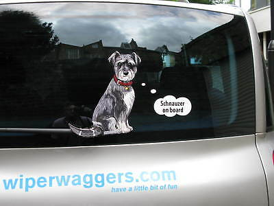 WHIPPET DOG LOVER/'S CAR STICKER NOVELTY COLLECTABLE WITH WIPER WAGGING TAIL