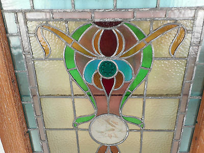 Vintage Stained Glass Window Panel (3143)NJ 3
