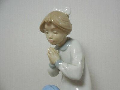 Vintage Lladro praying youg girl statue figurine 10 34