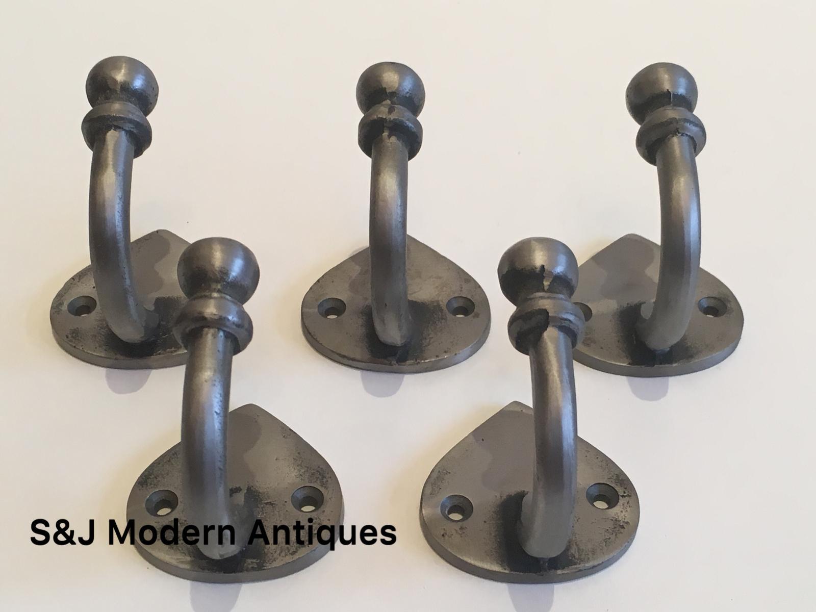 Single Coat Hook Iron Antique Modern Spearhead Vintage Black Grey Hat Rack Set 5 8