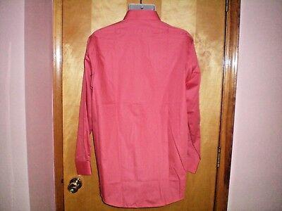 NWT NEW mens orange VAN HEUSEN lux sateen no iron regular fit dress shirt $45