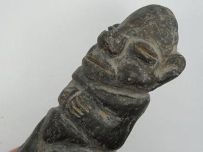 Antique Pre-Columbian Guatemala Seated Shaman Figure 9