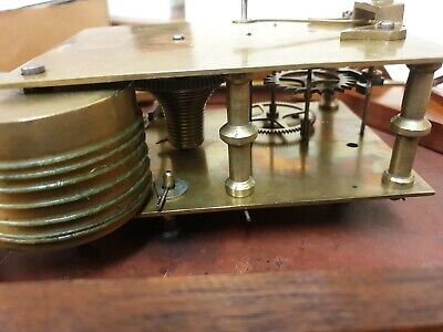 12 inch Unsigned Fusee 8 Day Drop Dial/Station/School  Mahogany Case C1880 8
