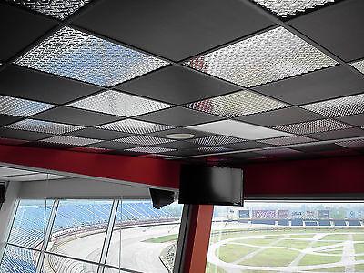 pvc ceiling tiles. 6 Of 9 Washable PVC Ceiling Tiles - EcoTile Techno 2\u0027 X 4\u0027 Black Lay-in Pvc