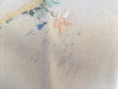 Vintage Handkerchief w Floral Corner Signed Roy Higgins Autographed Estate Piece