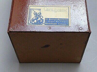S4 -  5x antike Apotheke Behälter   Holz & Pappe - Apotheker Dose  Deckeldose 3