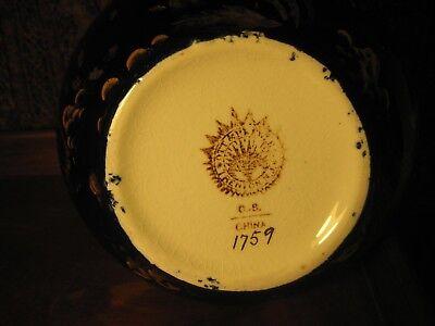 Antique Ott & Brewer Cobalt Pitcher And Soap Dish Trenton Nj Usa C1870 2 Items 6