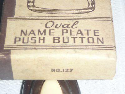 NOS Vintage Mid Century Bakelite? Art Deco Door Bell Button w/ Nameplate NEW 3 • CAD $25.39