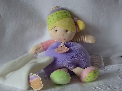 Doudou Et Compagnie Les Demoiselles Cupcake Mauve 20 Cm Doudou Mouchoir Hochet 6